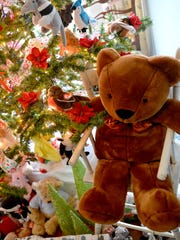 """Tthe """"Beanie Babies"""" themed Christmas Tree is one of"""