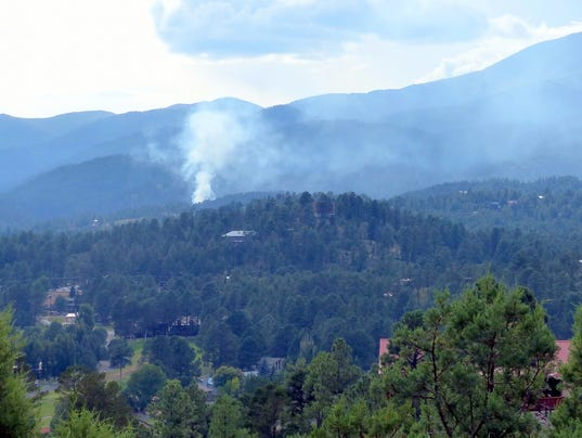 smoke and fire in the mountains