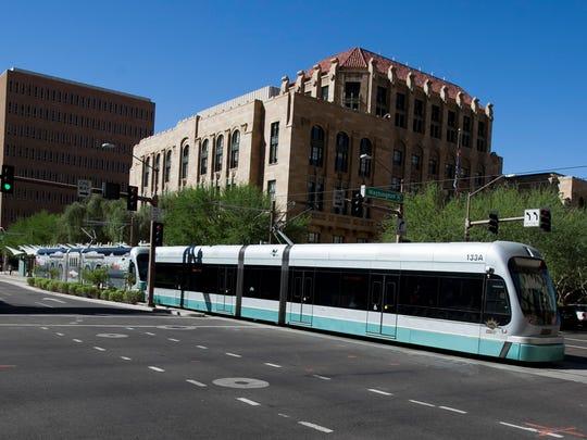 Light rail in Phoenix.