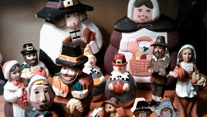 It doesn't look like the kids will fight over who inherits Mom's Pilgrim collection, part of which is shown here.