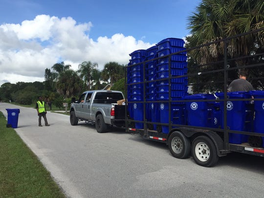 Waste Management distributed thousands of recycling carts a year ago when it took over all recycling collections in Indian River County.