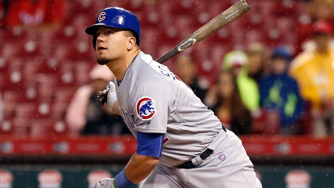 Cubs outfielder Kyle Schwarber hit 30 homers with a .211 average in 2017.