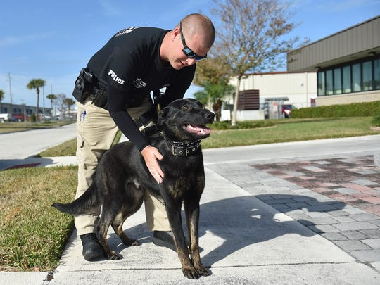Fort Pierce Police Officer Robie Troutman with his