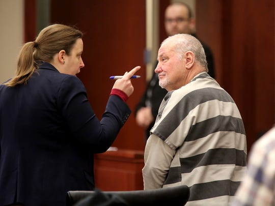 Tim Nolan goes in front of Judge Kathleen Lape with his new attorney, Eva Hager, after Nolan withdrew his guilty plea and fired his original attorneys. Nolan, the former judge, and conservative activist was to be sent to prison for human trafficking on Thursday. Instead, Nolan has tried to withdraw his guilty plea.
