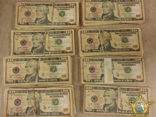 Sample of counterfeit cash confiscated during arrests made in a Charlotte County counterfeiting operation.