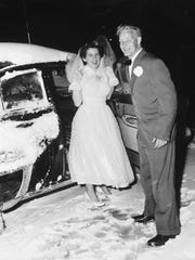 Ross Young captured this photograph of an unidentified Dover couple on their wedding day in the mid-1950s.