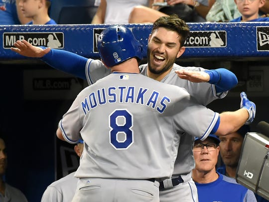Mike Moustakas slugged a franchise-record 38 home runs