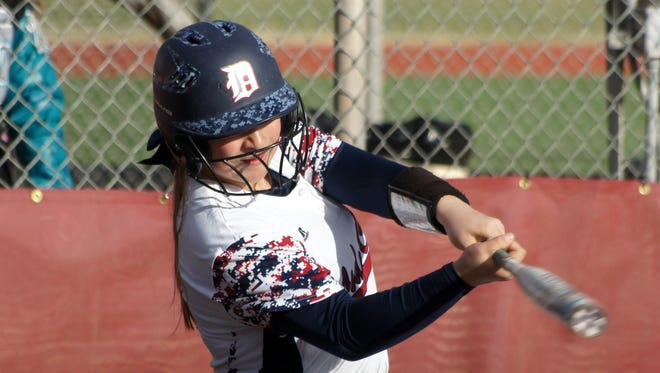 Deming High Coach Noel Nunez is looking for quality at bats from the Lady Cat varsity. Palmira Valentine walked, singled and scored a run in two official at bats during Tuesday's 16-5 loss to the visiting Onate Knights.