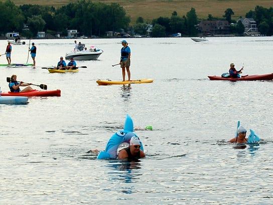 Krossin' Keuka participants take to the water in Keuka