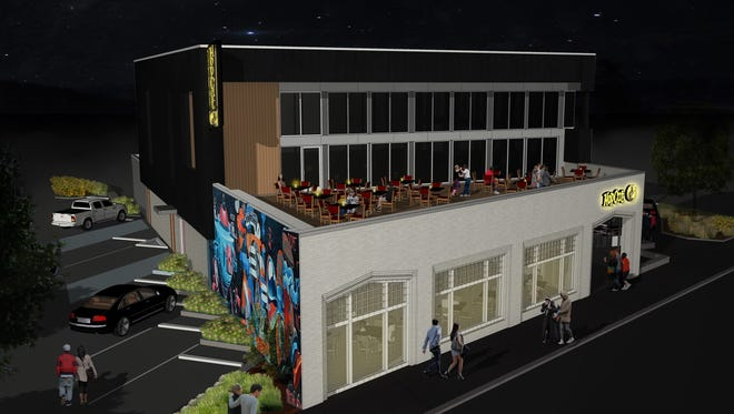 Rendering of HopCat's planned bar and restaurant on Bardstown Road.