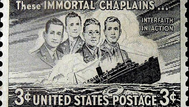 A stamp honoring the Four Chaplains was issued in 1948.