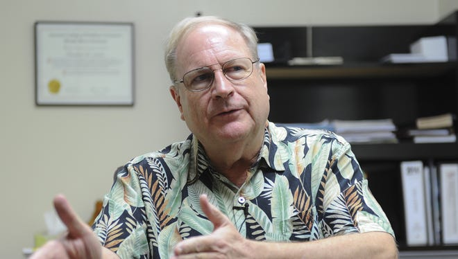 Guam Memorial Hospital Administrator Ted Lewis is photographed during an interview on May 5.