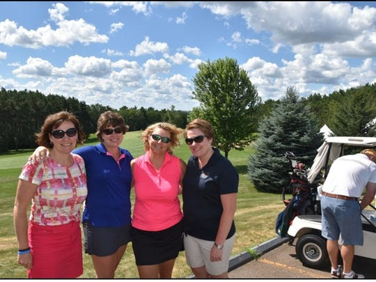 WATEA golf outing participants Julie Vandre, from left,