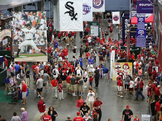 July 12, 2015. FanFest, ASG, Reds, MLB, Police, Liz Dufour