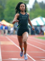Lanae-Tava Thomas, shown here winning the 100-meter