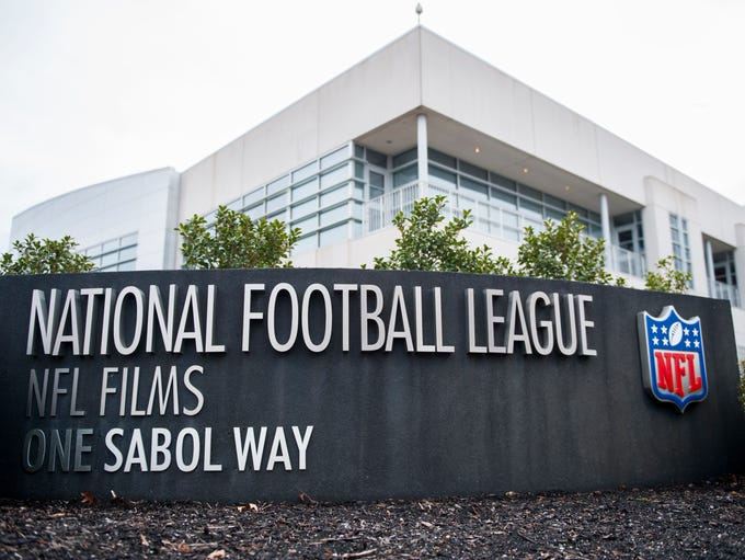 Exterior of NFL Films headquarters in Mount Laurel.