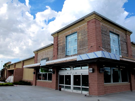 The Aldi grocery store nears completion for a fall