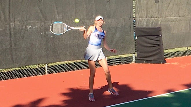 Manhattan sophomore Jill Harkin won the singles title in Tuesday's Topeka West Invitational, leading the Indians to the team championship.