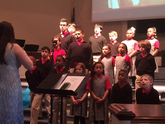 New Jersey Classical Academy in North Plainfield held a unique musical event on Monday, April 18. Conducted by music teacher, Miss Claudia Escalante, the concert featured students singing songs in Latin, Greek and Hebrew.  The theme centered on 'miracles' and the students from grades K through 7th sang about love, hope, freedom, and justice.