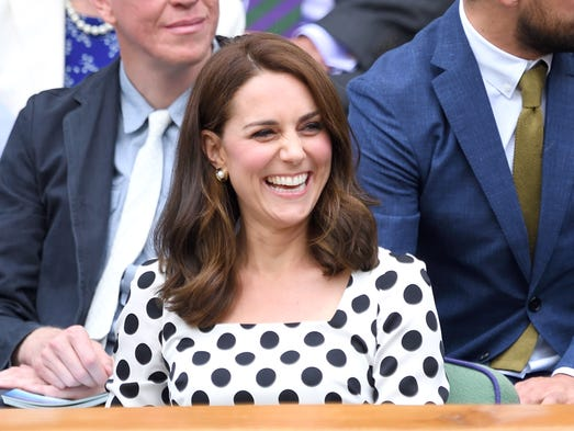 Duchess Kate turned up in the royal box for one of