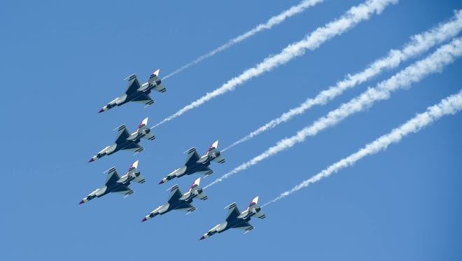 The Thunderbirds perform during the 2018 Ocean City Air Show on Saturday, June 16, 2018