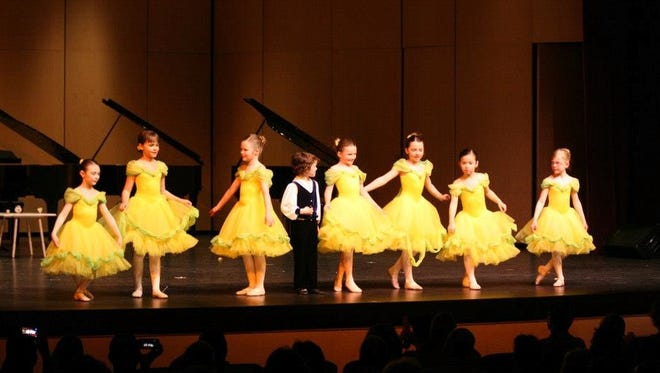 """Youth ballet students of the Wirth Center for the Performing Arts perform a spring dance during a previous gala. Ballet will be among one of the many performances featured at this year's """"Once Upon a Time Spring Gala"""" at the Sauk Rapids-Rice High School Performing Arts Center."""