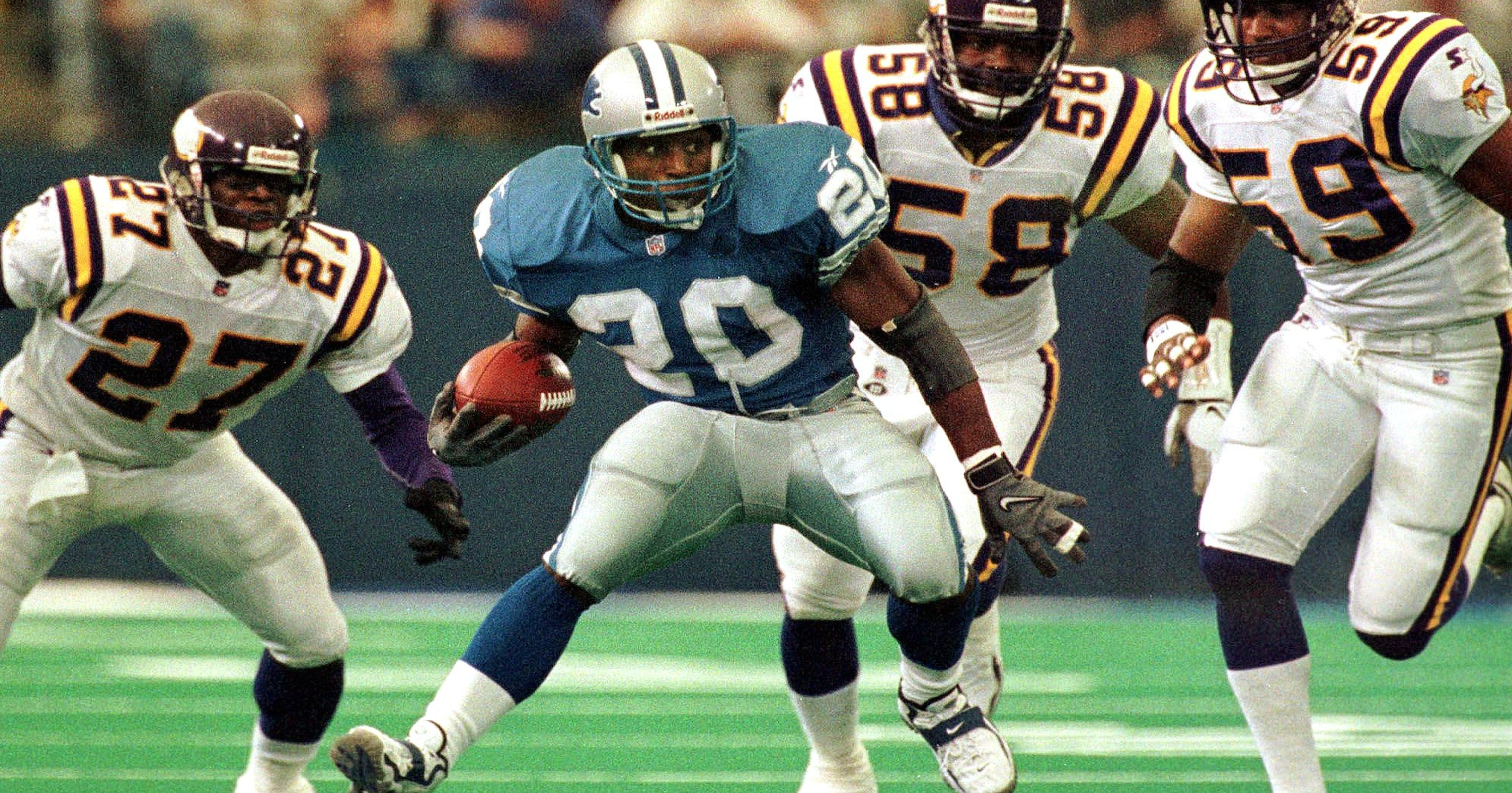 4074e52b6 Experts rank Lions  Barry Sanders second-greatest NFL running back