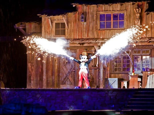 "Guests will enjoy magical thrills in the popular ""Fantasmic!"""