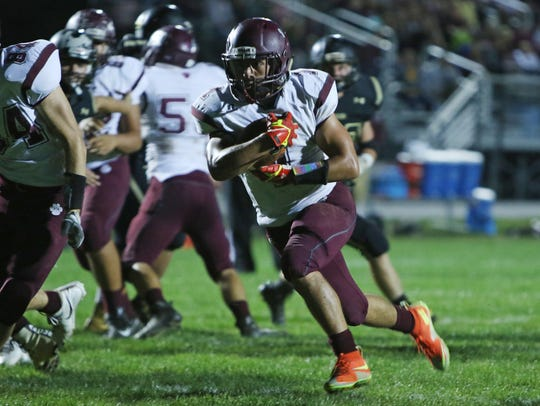 Logan Leche rushed for three TDs in Stuarts Draft's