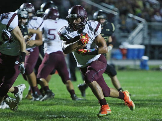Logan Leche rushed for three TDs in Stuarts Draft's 42-10 win over Stonewall Jackson on Friday.