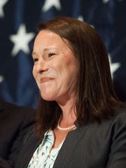 U.S. Rep. Martha Roby, R-Montgomery talks to supporters