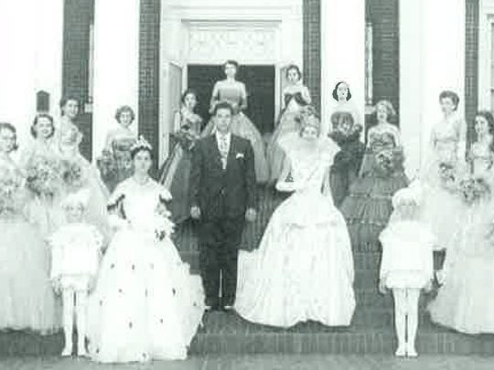 The royal court of the 1952 Holiday In Dixie Cotillion.