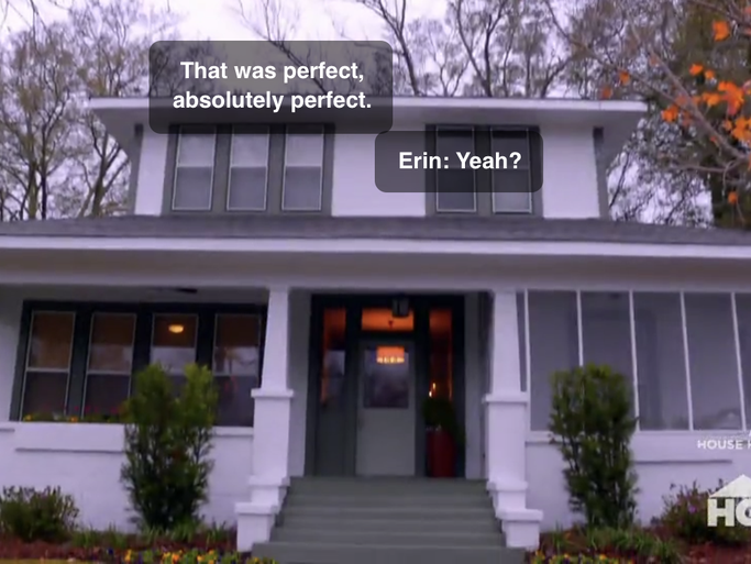 "The renovated home on HGTV's ""Home Town."""
