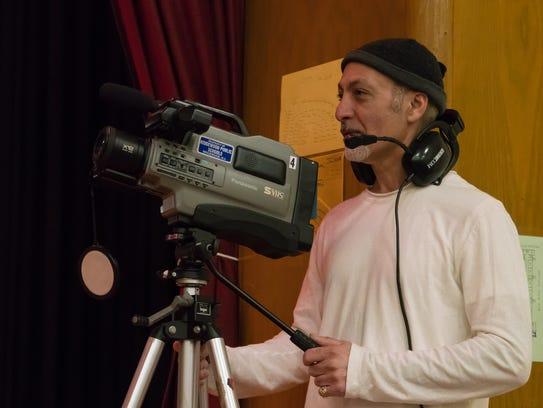 Paul Markosian manning the camera at Jamboree.