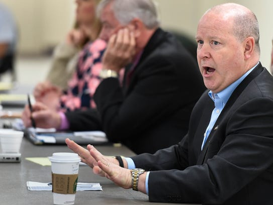 Larry Bucshon, 8th District Rep., answers questions