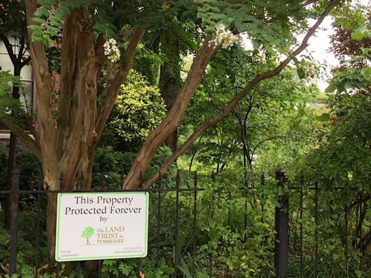 """The Land Trust for Tennessee protects the garden that Ernest Campbell established. """"I'm protecting the fact that almost a quarter of an acre is going to be green space,"""" says Berdelle Campbell. """"It will always be green space."""""""