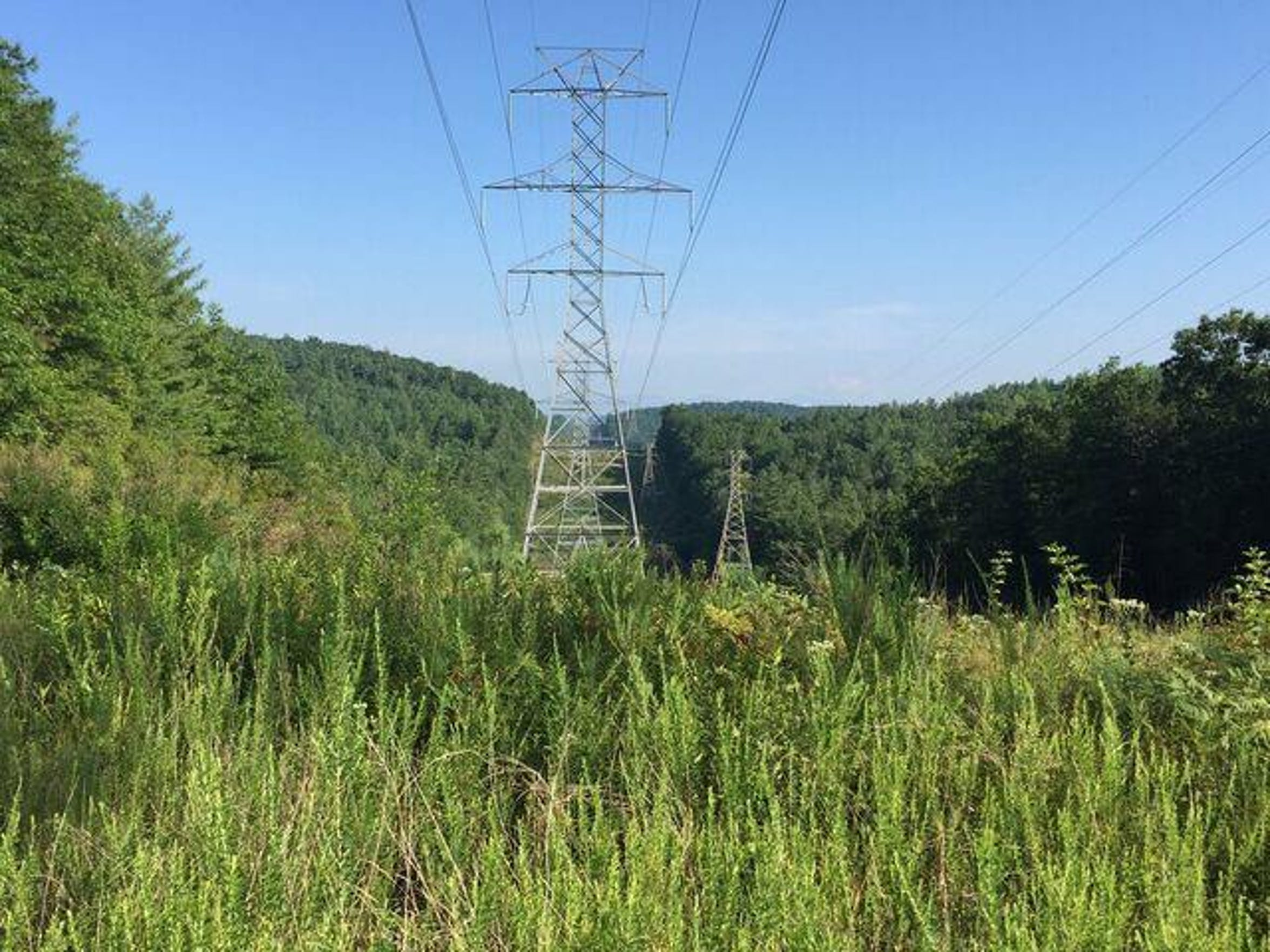 A transmission line.
