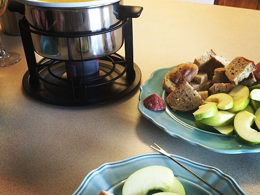 This fondue was delicious. My break from running was full of delicious treats, but did I go overboard?