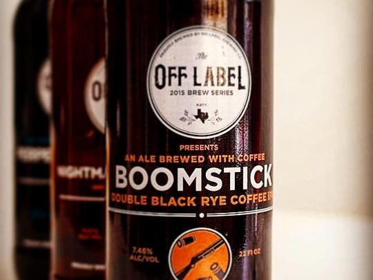 No Label Brewing Company's Boomstick was created in partnership with Boomtown Coffee, an artisanal Houston coffee roaster.
