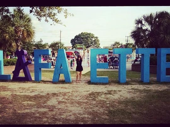 While you're in the parc, don't forget about the #YLafayette sign and take your picture in this local landmark!