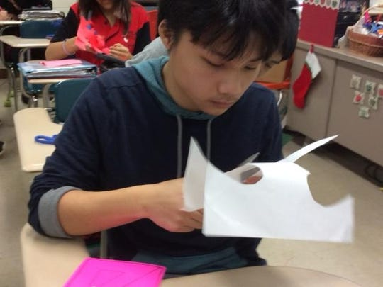 D.C. Everest Junior High students made more than 100 valentines to send to veterans at three hospitals.
