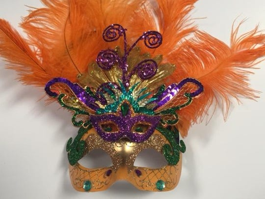 Flashy carnivale mask by Dennis Beckman.