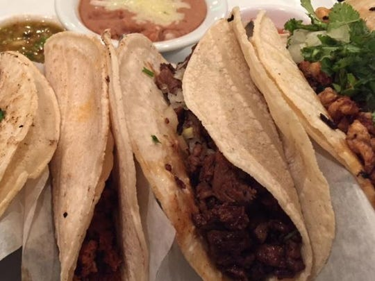 Tacos from the new La Tonalteca location in Hockessin's Lantana Square shopping center.