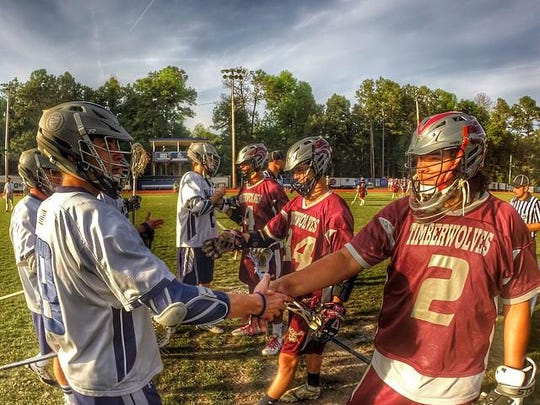Chiles goalie Zeke Joiner (2) and his Timberwolves teammates prepare for a district final playoff game last year against Maclay.