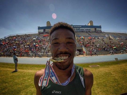 FAMU DRS' Chris Jackson struck gold in the 110m hurdles in 2015.
