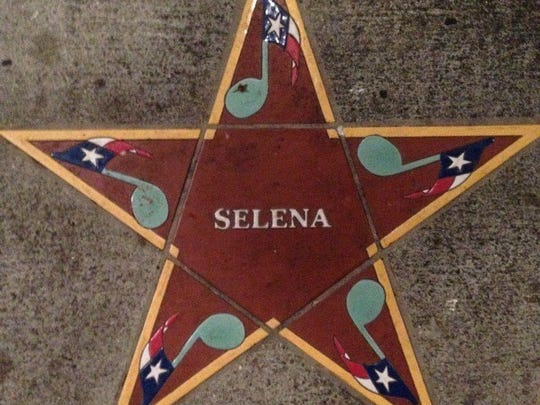 Caller-Times file Selena's star on the South Texas Music Walk of Fame on Water Street in Downtown.