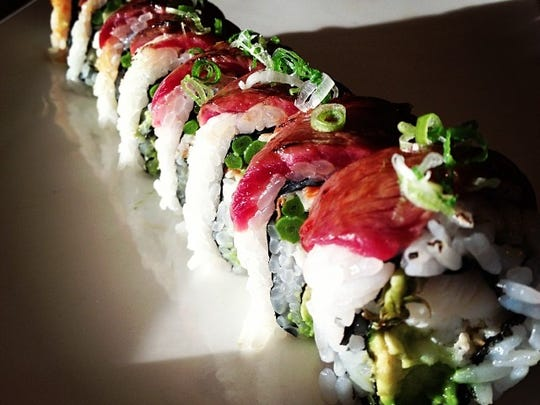 A surf and turf roll from Xina in Toms River.