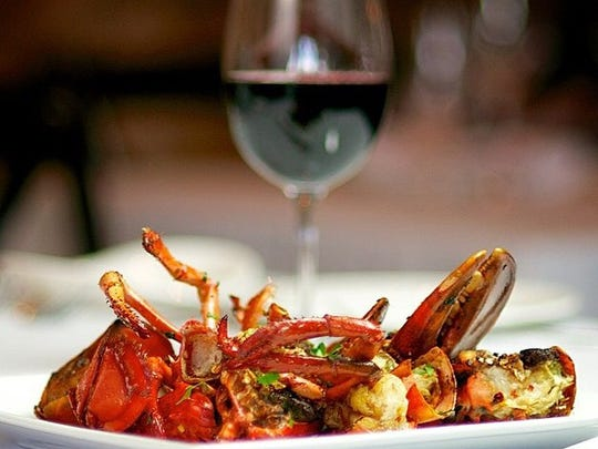 The Angry lobster from Anjelica's Restaurant in Sea Bright is a 1 1/2-pound lobster, cracked in its shell, pan-seared with extra-virgin olive oil and red pepper flakes then baked in the oven. The lobster can be served over pasta, which is handmade at the restaurant.