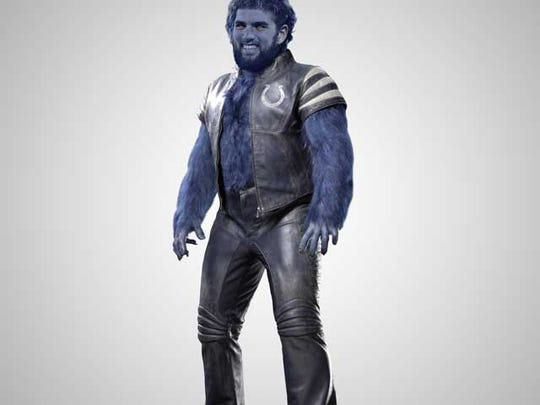 Colts quarterback Andrew Luck is compared to super hero the Beast.