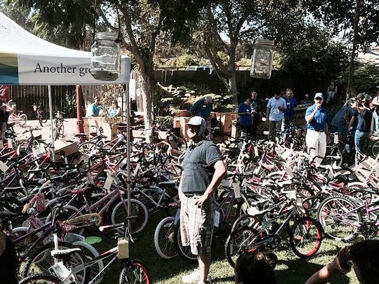 CoastHills Credit Union donates new bikes to area foster children.
